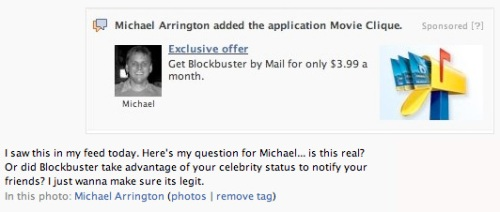 Arrington sues Facebook
